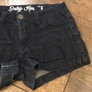 Light Weight Dark Denim Shorts